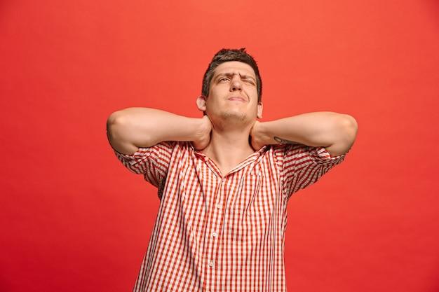 Man having neck pain. Free Photo