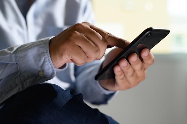 Image result for man holding phone digital