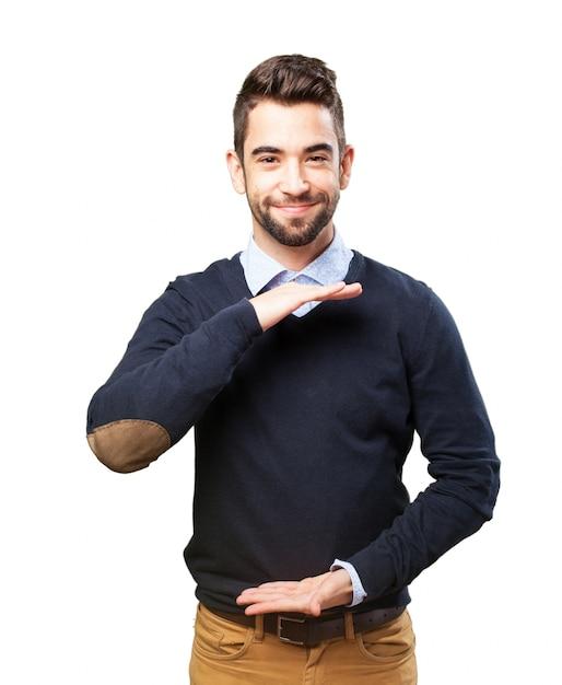 Man Holding Something Photo
