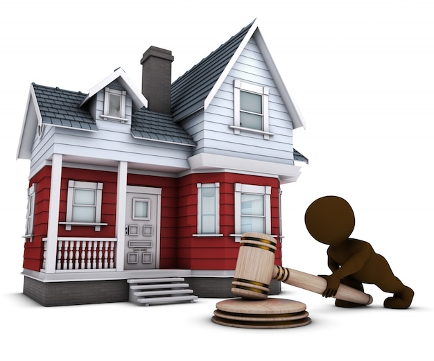 Man in a house auction Free Photo