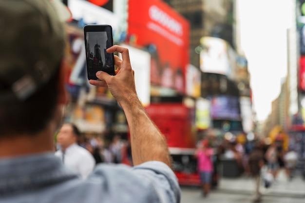 Человек в процессе принятия селфи Бесплатные Фотографии