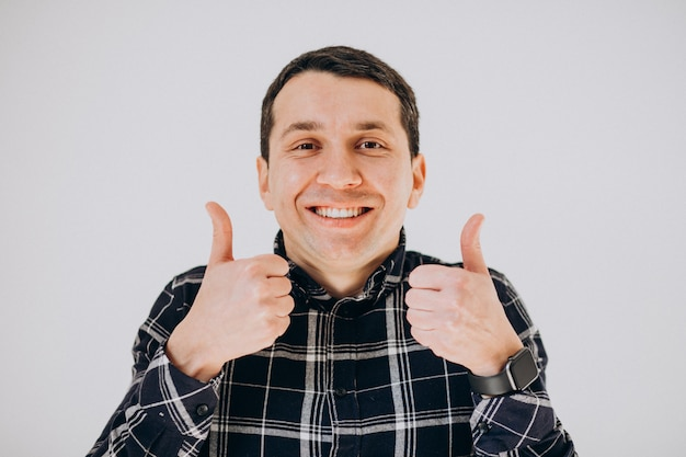 Man isolated showing facial emotions Free Photo