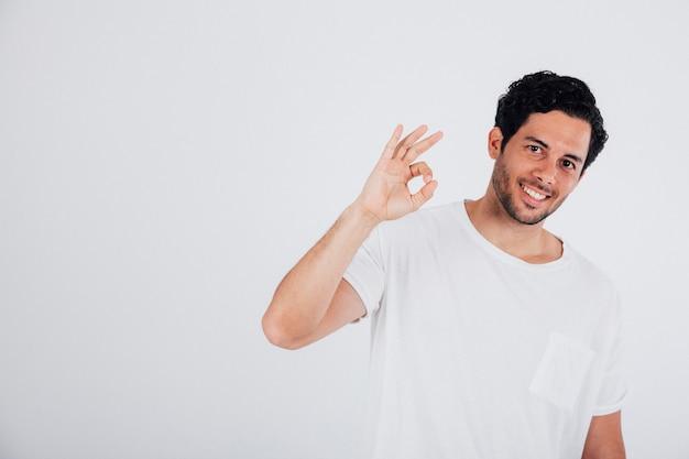 Man making ok sign Free Photo