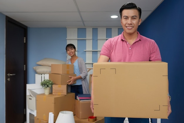 Man moving in new home Free Photo