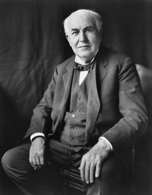 Man portrait alva edison thomas inventor Free Photo