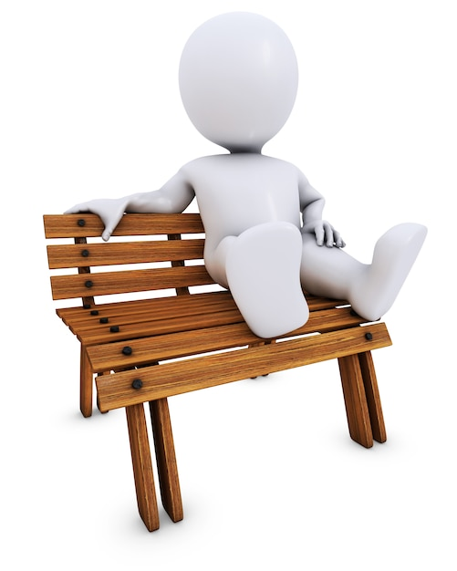 Man relaxing on a bench Free Photo