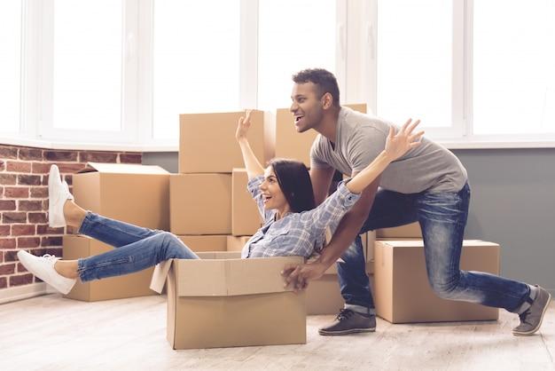 man rolls girl box new apartment 85574 6405
