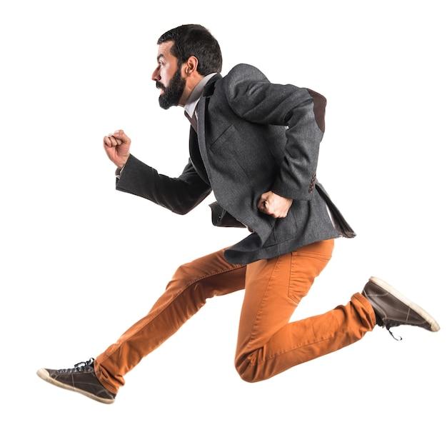 Man running fast Free Photo