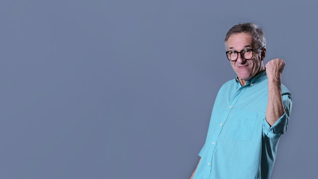 Man showing fist Free Photo