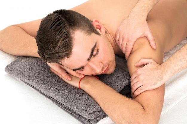 Man in spa salon Free Photo