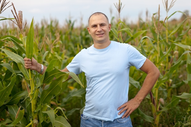 man standing in field Free Photo