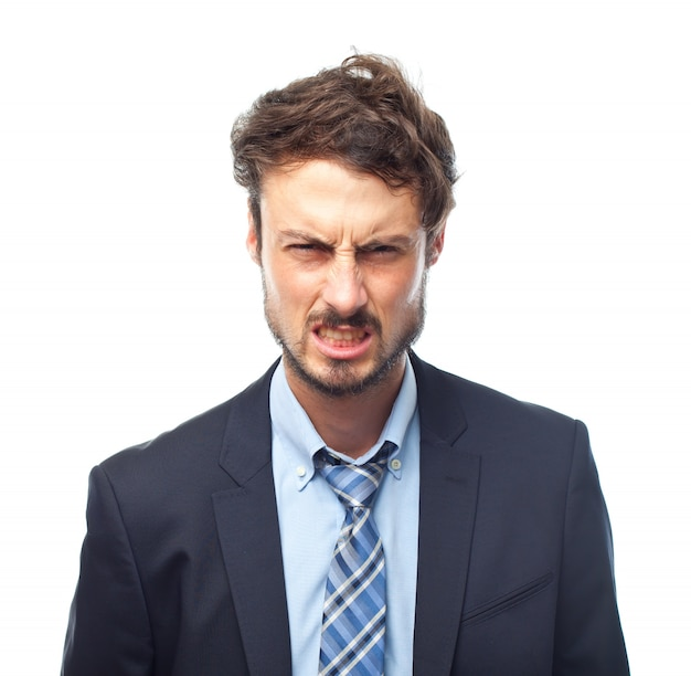 Man in suit with angry face Free Photo