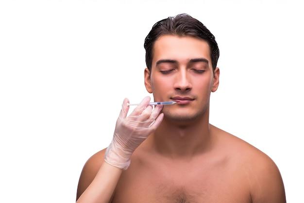 Man undergoing plastic surgery Premium Photo