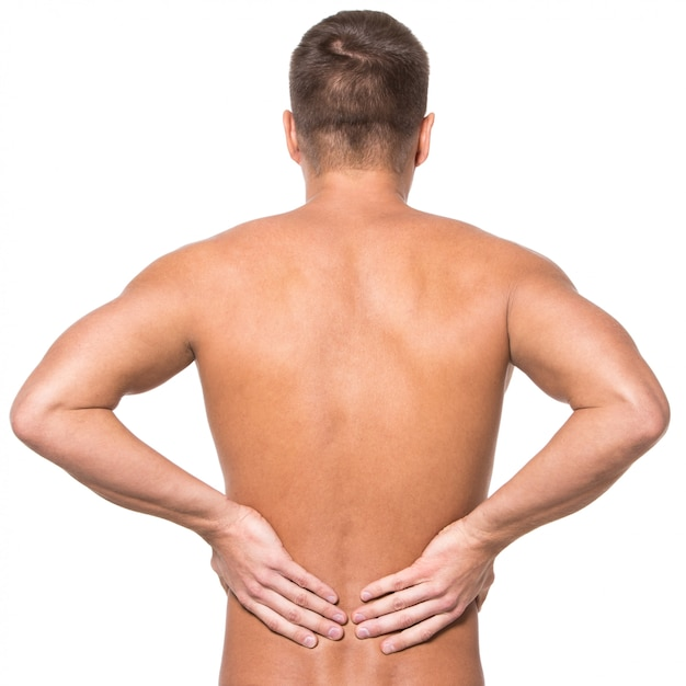 Man with backache Free Photo