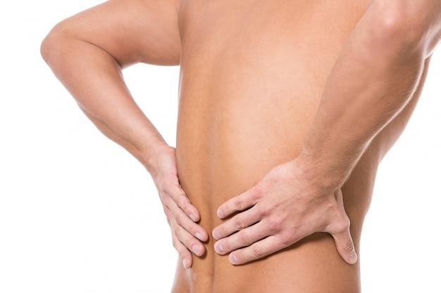 Человек с болью в спине Бесплатные Фотографии