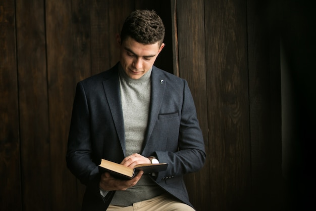 Man with book Free Photo