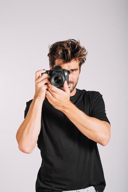 Free Photo | Man with camera
