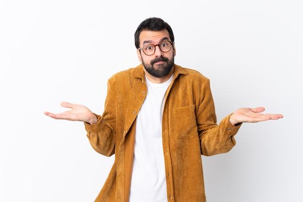 Man with glasses and yellow shirt Premium Photo