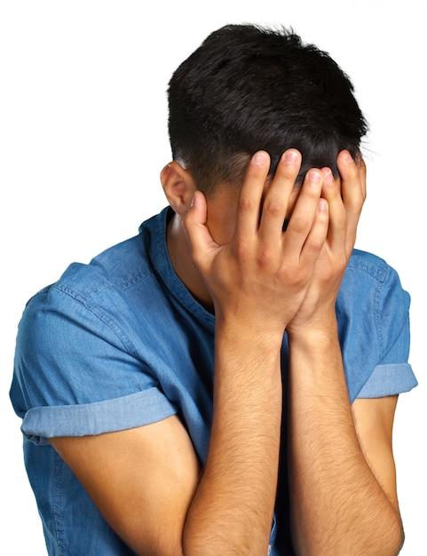 Man with a headache Premium Photo