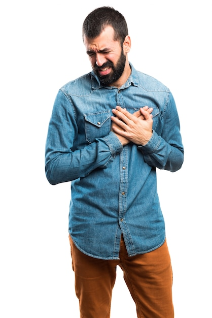 Man with heart pain Free Photo