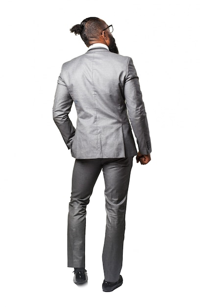 Man with suit back Free Photo