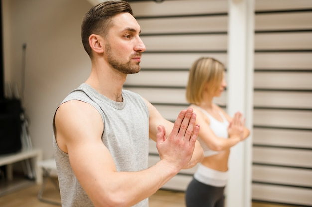 Man and woman ready to workout Free Photo
