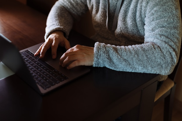 Man working with his laptop Premium Photo