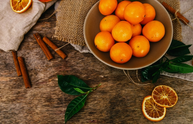 Mandarins on the table Free Photo
