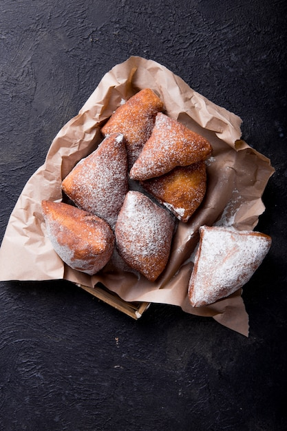 Premium Photo Mandazi Is A Slightly Sweet East African Street Food Top View From Above