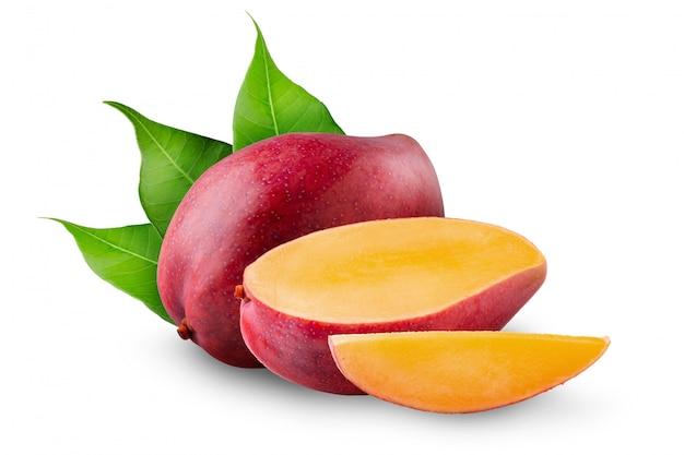 Mango fruit isolated on white Premium Photo