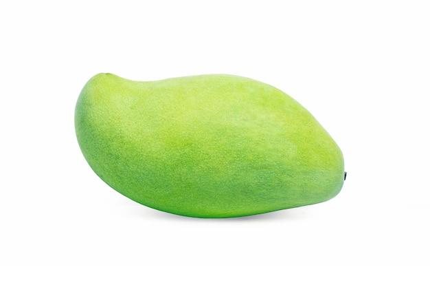 Mango green isolated on white background. Free Photo
