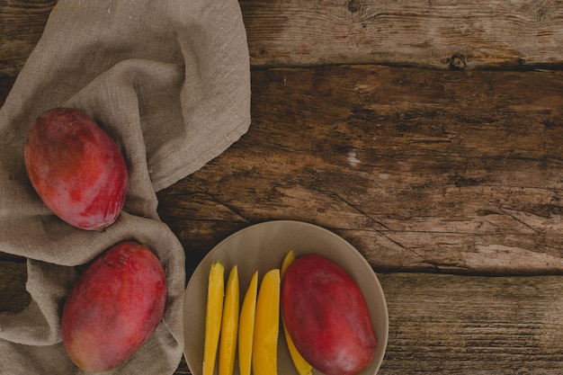 Mango on the table Free Photo