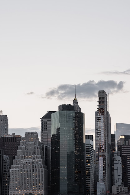 Manhattan cityscape with copy-space Free Photo