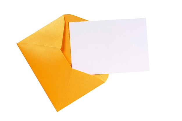 Manila brown envelope with blank letter card Free Photo