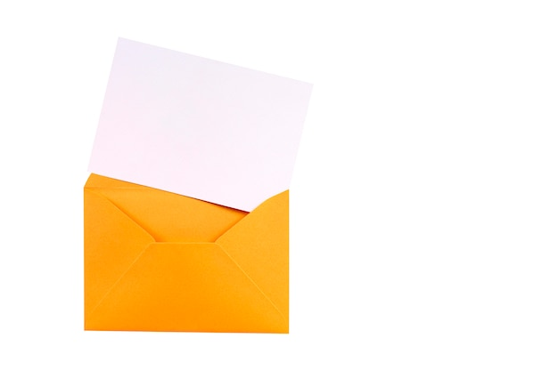 Busta marrone di manila con la carta di lettera in bianco Foto Gratuite