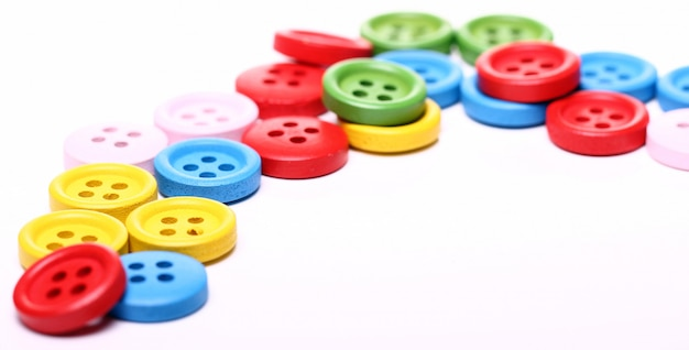 Many colorful buttons Free Photo