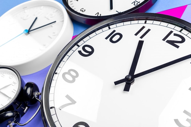 Many different clocks Premium Photo