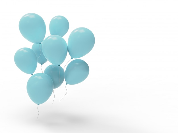 Many  heavenly balloons whit blank space Premium Photo