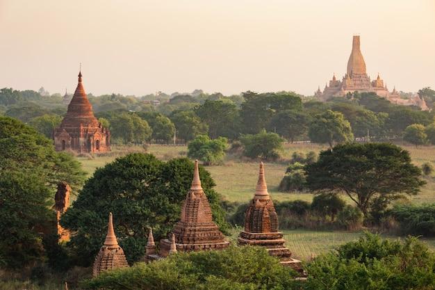 Many of temples of bagan in myanmar Premium Photo