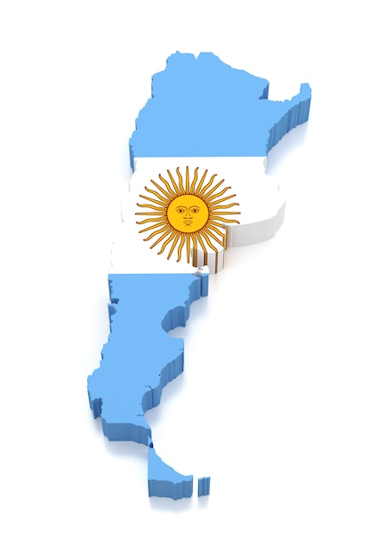Map of argentina Premium Photo