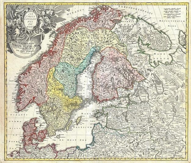 Map Denmark Sweden Finland Scandinavia Norway Photo Free Download - Norway map free download