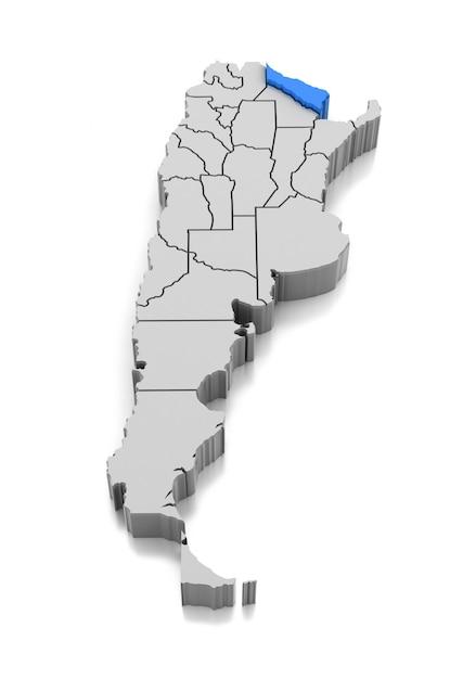 Map of formosa province, argentina Premium Photo