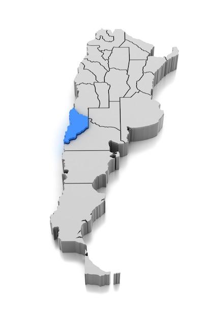Map of neuquen province, argentina Premium Photo