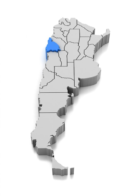 Map of san juan province, argentina Premium Photo
