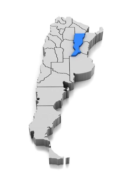 Map of santa fe province, argentina Premium Photo
