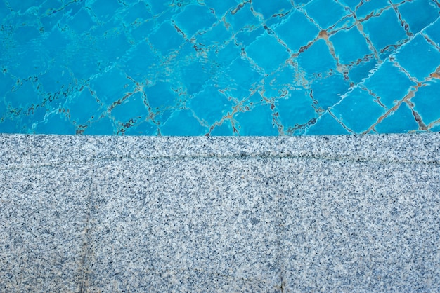 Marble floor of the pool background Premium Photo