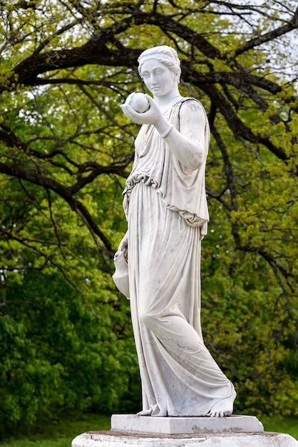Premium Photo | Marble statue of the greek goddess hera or ...