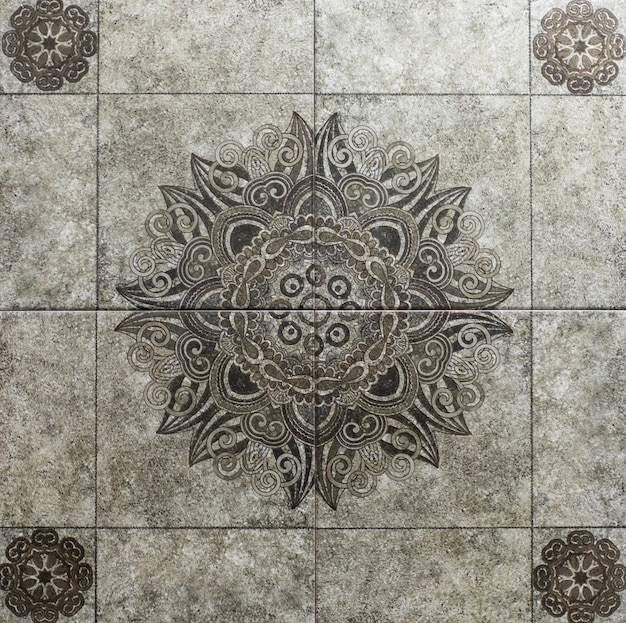Marble tile with floral pattern for the kitchen