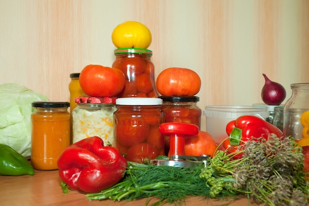Marinating vegetables Free Photo