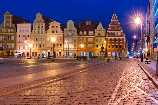 Market square in wroclaw, poland Premium Photo